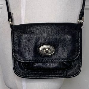 Fossil Leather Crossbody Bag Handbag Purse Hobo